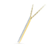 Elegant Diamond Bar Pendant