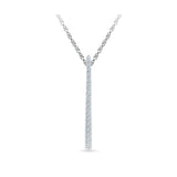 Elegant Diamond Bar Pendant in 14k and 18k Gold online for women