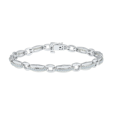 fashionable diamond bracelet  in white and yellow gold