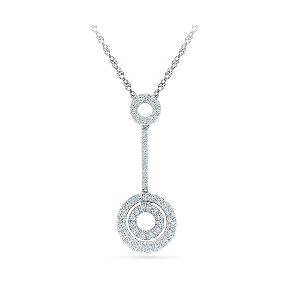 Incircle Diamond Pendant in 14k and 18k Gold online for women