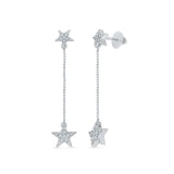 Shooting Stars Diamond Drop Earrings in 14k and 18k gold