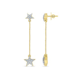 Shooting Stars Diamond Drop Earrings