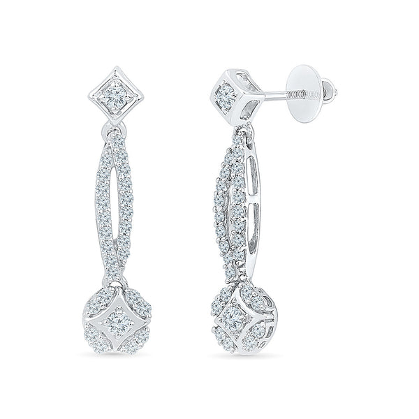 Forever Luscious Diamond Drop Earrings in 14k and 18k gold
