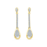 Dancing Cluster Diamond Drop Earrings
