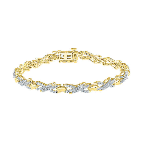 vintage style diamond bracelet for daily wear  in white and yellow gold