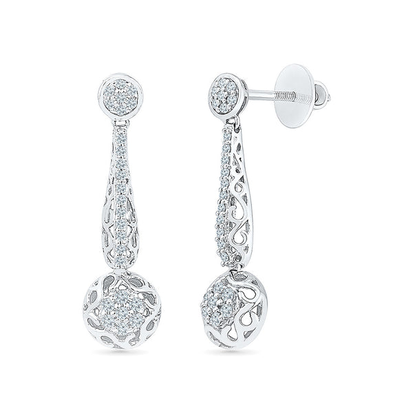 All That Jazz Diamond Drop Earrings in 14k and 18k gold