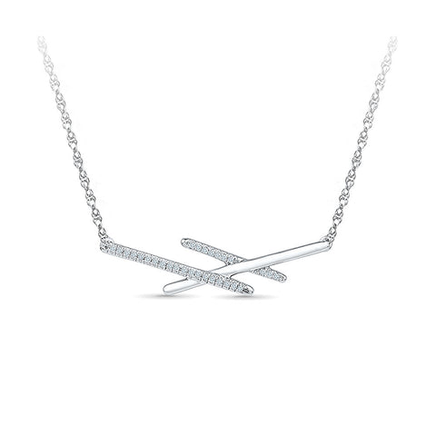 Breathtaking Three Bar Diamond Pendant in 14k and 18k Gold online for women
