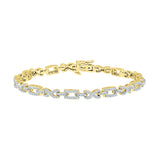 high class diamond bracelet for maariage  in white and yellow gold