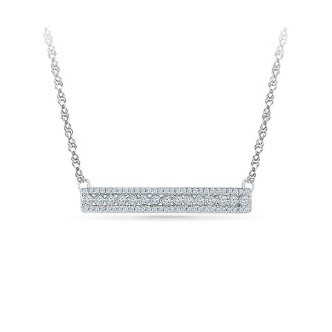 14k and 18k Gold Gold and Diamond Bar Necklace in PRONG setting online for women