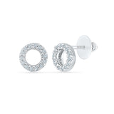 Euphony Circle Diamond Earrings