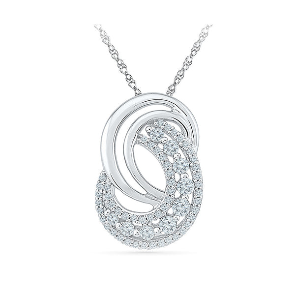 The Interwined Diamond Pendant in 14k and 18k Gold online for women