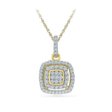 Quadrate Diamond Pendant