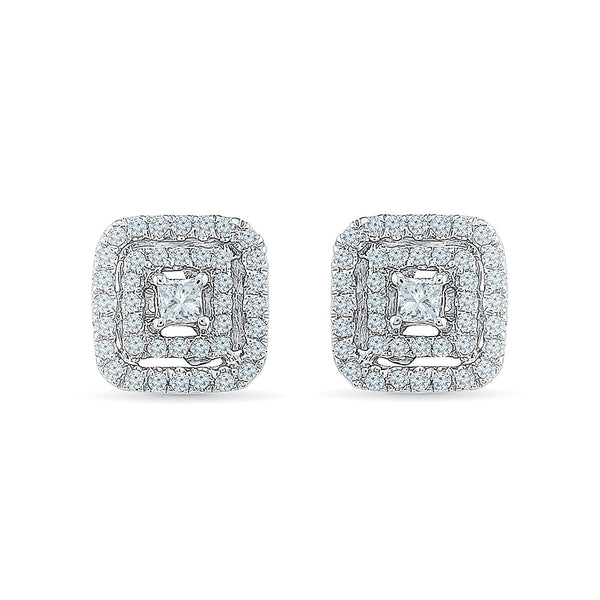 Cushy Diamond Studs in 14k and 18k gold for women online