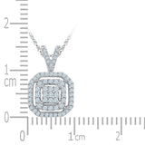 Shimmering Square Diamond Pendant