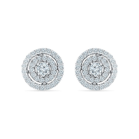 Beatific Diamond Stud Earrings in 14k and 18k gold for women online