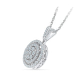 Contoured Diamond Circle Pendant