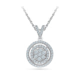 Contoured Diamond Circle Pendant in 14k and 18k Gold online for women