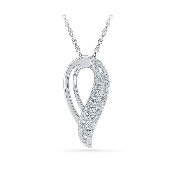 precious casual wear diamond pendant in 14k and 18k Gold online for women