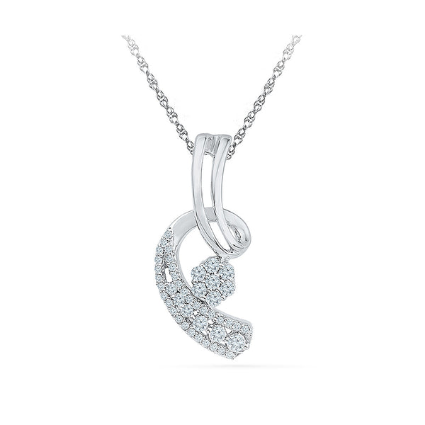 Exotic Bloom Diamond Pendant in 14k and 18k Gold online for women