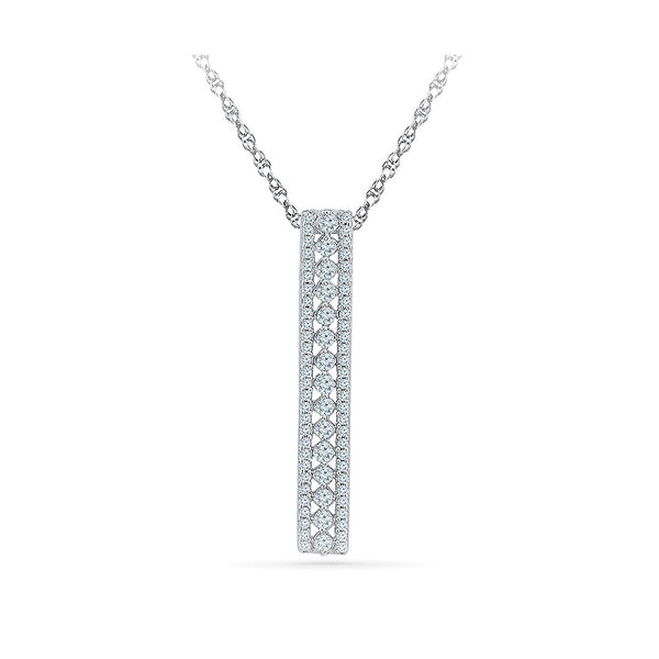 western dress diamond pendant in 14k and 18k Gold online for women