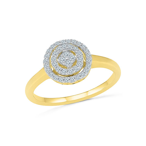 Three Circle Everyday Diamond Ring