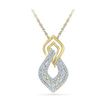 all dress match diamond pendant in 14k and 18k Gold online for women