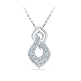 Roots with Wings Diamond Pendant