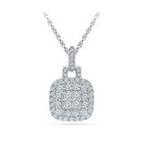 wedding gift diamond pendant in 14k and 18k Gold online for women
