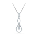 Sweeping Teardop Diamond Pendant