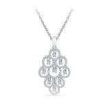 Luxurious Bunch Diamond Pendant