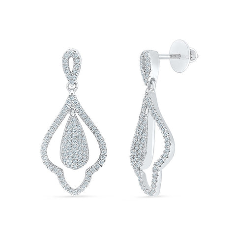Elegant Chandelier Diamond Drop Earrings in 14k and 18k gold
