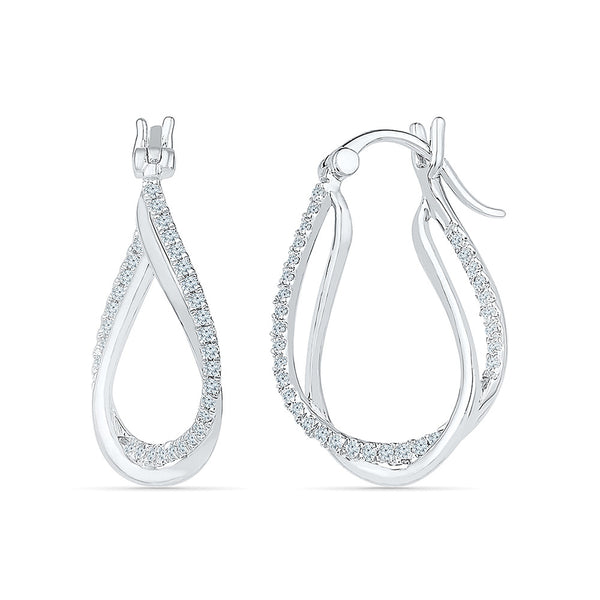 Sparkle Pretty Diamond Drop Earrings in 14k and 18k gold