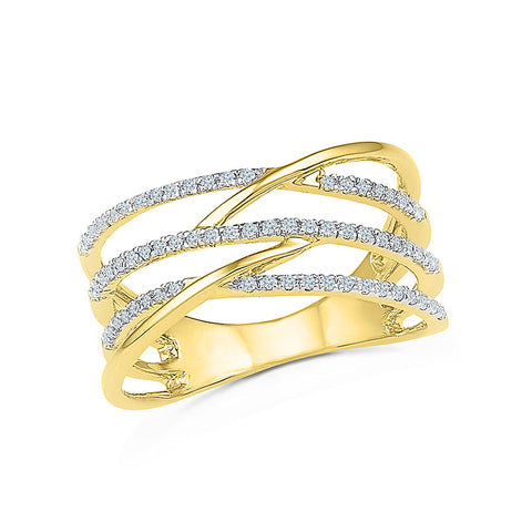 14kt / 18kt white and yellow gold Spree Diamond Cocktail Ring for women online in PRONG setting