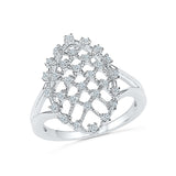 Diamond Corona Cocktail Ring