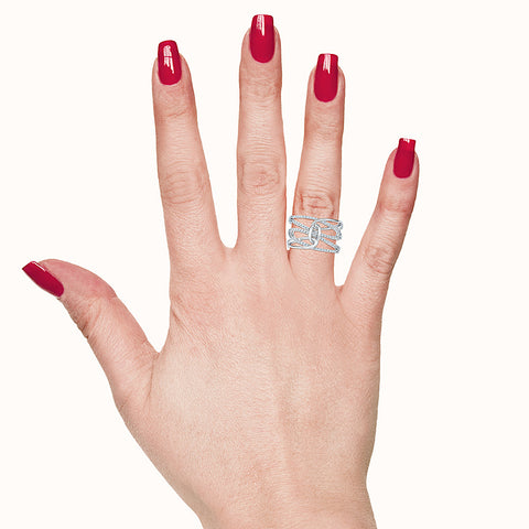 Knot Glam Diamond Cocktail Ring