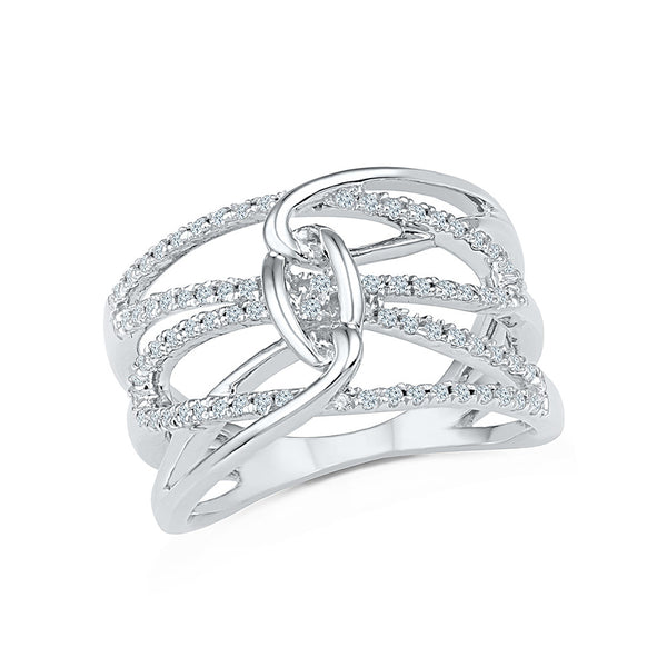 14kt / 18kt white and yellow gold Carousel Diamond Cocktail Ring for women online in PRONG setting