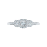 Sparkly Love Diamond Engagement Ring