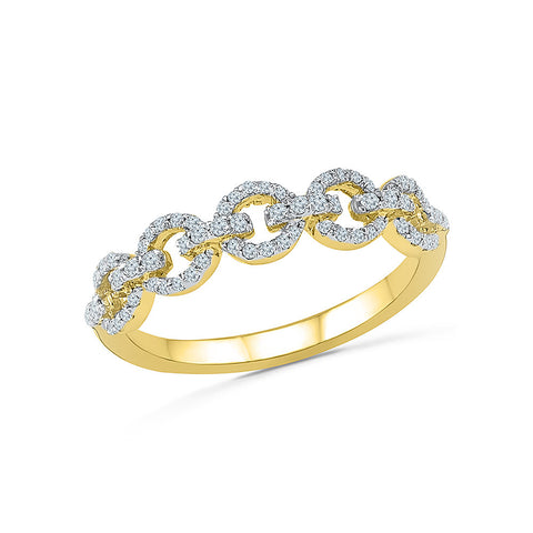 14kt / 18kt white and yellow gold Encircled Elegance Diamond Band in PRONG for women online