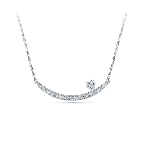 Swaying Heart Diamond Pendant in 92.5 Sterling Silver for women online