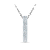 Par Excellence Bar Diamond Pendant in 14k and 18k Gold online for women