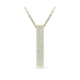 Par Excellence Bar Diamond Pendant