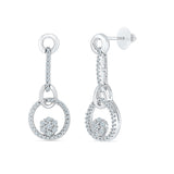 Modern & Gracious Diamond Danglers