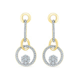 Modern & Gracious Diamond Danglers in 14k and 18k gold for women online