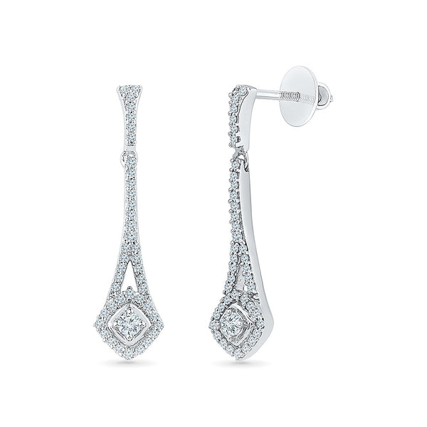 Diamond Earrings in 14kt and 18kt gold