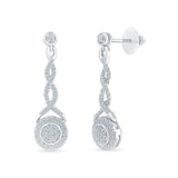 Woven Love Drop Diamond Danglers