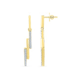 Fine Line Diamond Drop Earrings