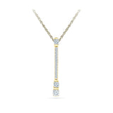 Diamond Stud Bar Pendant