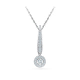 Groovy Partywear Diamond Pendant in 14k and 18k Gold online for women
