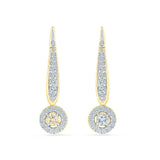 Linear Lush Diamond Drop Earrings