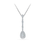 Teardrop Deco Diamond Pendant in 14k and 18k Gold online for women